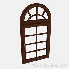 家居木质拱形门3d模型下载