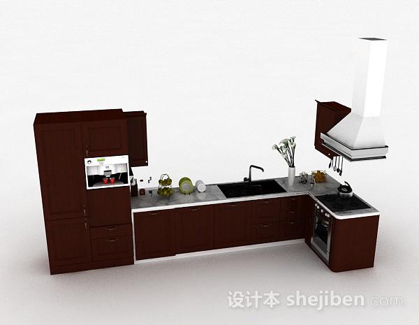 现代风格L型整体橱柜
