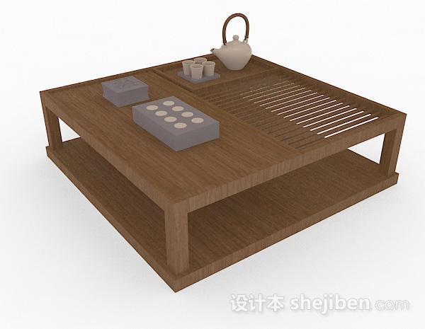 日式木质小茶几