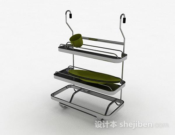简约不锈钢三层晾碗架