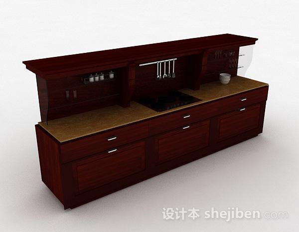 欧式实木一字型整体橱柜