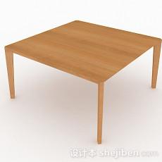 简约方形餐桌3d模型下载