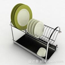 简约不锈钢晾碗架3d模型下载
