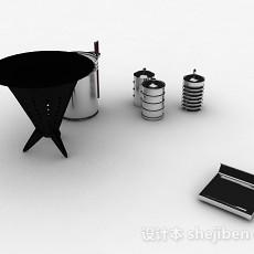 现代风格不锈钢镂空厨房用具3d模型下载