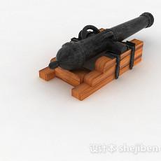 黑色复古武器家居摆件3d模型下载
