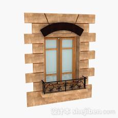 欧式风格室外窗户3d模型下载