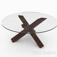 圆形玻璃餐桌3d模型下载