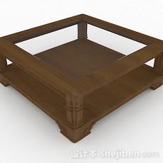 家居简约方形茶几3d模型下载