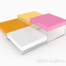 时尚家居彩色茶几3d模型下载