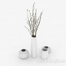 雅致家居组合花瓶3d模型下载