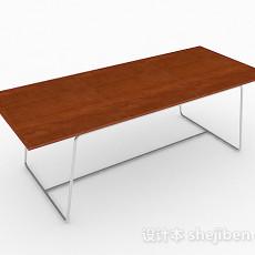 简约书桌3d模型下载