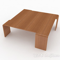 简约家居木质茶几3d模型下载