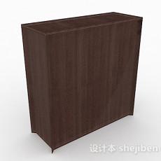 简约木质玄关柜3d模型下载