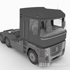 灰色货车头3d模型下载