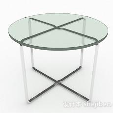 绿色圆形餐桌3d模型下载