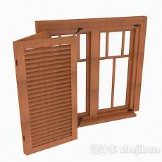 木质家居窗户3d模型下载