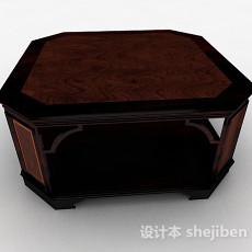 新中式木质茶几3d模型下载