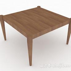 方形木质餐桌3d模型下载