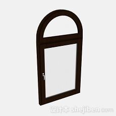 简约木质拱形门3d模型下载