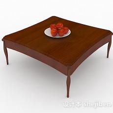 木质简约茶几3d模型下载