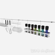 金属厨房厨具悬挂架组合3d模型下载