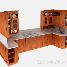 家居木质橱柜3d模型下载