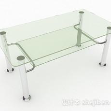 玻璃茶几3d模型下载
