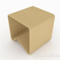 现代风格木椅3d模型下载