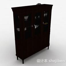 棕色木质橱柜3d模型下载