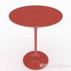 简约圆形餐桌3d模型下载