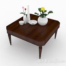 木质小茶几3d模型下载