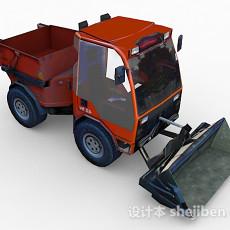 棕色铲车3d模型下载
