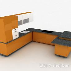 现代风格家居整体橱柜3d模型下载