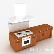 现代风格木质橱柜3d模型下载