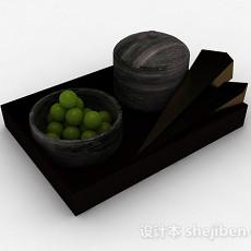 绿色果子3d模型下载