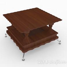 家居个性棕色小茶几3d模型下载