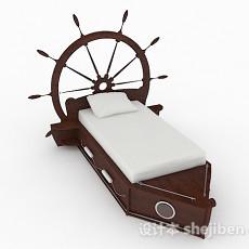 轮船主题儿童床3d模型下载