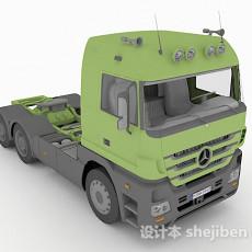 绿色货车头3d模型下载