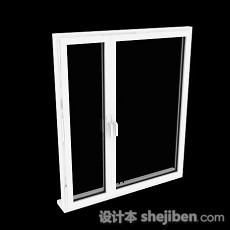 现代风格白色推拉窗户3d模型下载