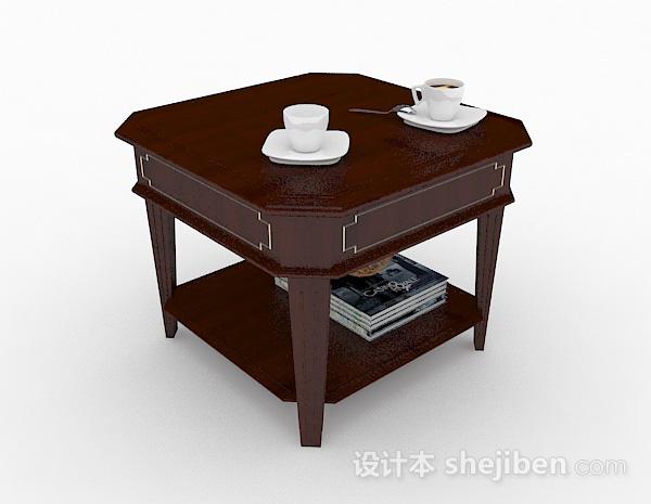 棕色木质小茶几