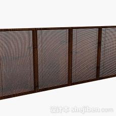 棕色木质百叶窗3d模型下载