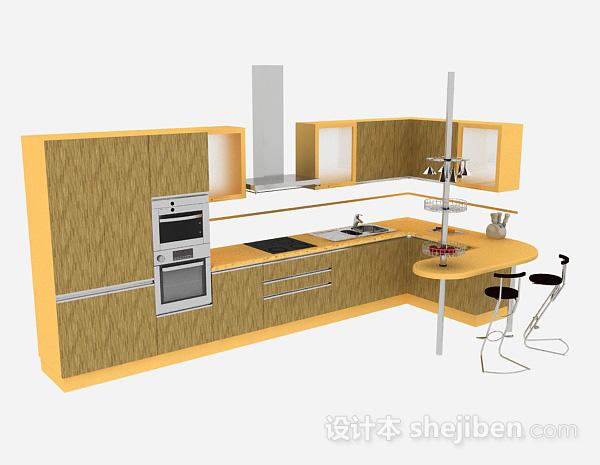 L型简约木质整体橱柜