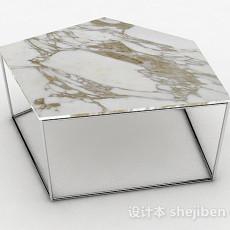 大理石简约茶几3d模型下载