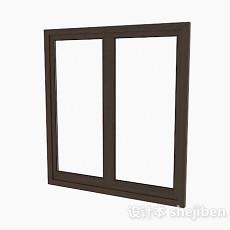 简约棕色家居窗户3d模型下载