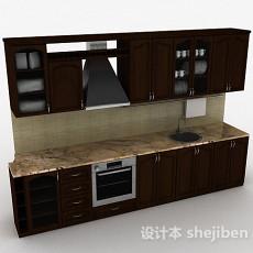 简欧风格木质整体橱柜3d模型下载