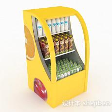 黄色饮料展台3d模型下载