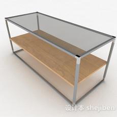 灰色玻璃茶几3d模型下载