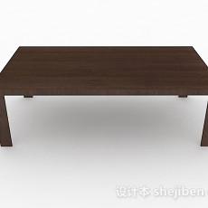简约木质茶几3d模型下载