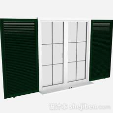 现代风格绿色百叶窗3d模型下载