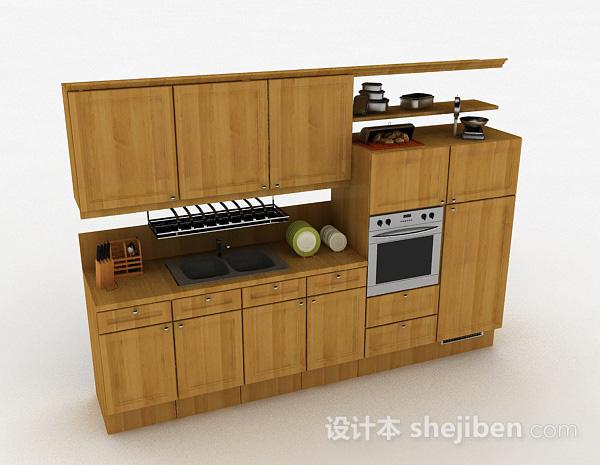 一字型木质整体橱柜